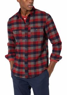 J.Crew Mercantile Men's Slim-Fit Long-Sleeve Plaid Flannel Shirt  L