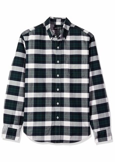 J.Crew Mercantile Men's Slim-Fit Long-Sleeve Plaid Oxford Shirt  L