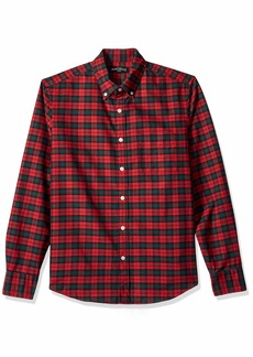 J.Crew Mercantile Men's Slim-Fit Long-Sleeve Plaid Oxford Shirt  M