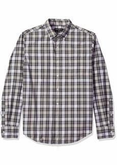 J.Crew Mercantile Men's Slim-Fit Long-Sleeve Plaid Shirt Heather Graphite S