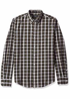 J.Crew Mercantile Men's Slim-Fit Long-Sleeve Plaid Shirt Navy Forest M