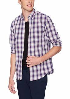 J.Crew Mercantile Men's Slim-Fit Long-Sleeve Plaid Shirt Navy red L