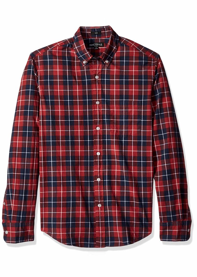J.Crew Mercantile Men's Slim-Fit Long-Sleeve Plaid Shirt  S