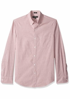 J.Crew Mercantile Men's Slim-Fit Long-Sleeve Solid Shirt Caravan red EOE XL