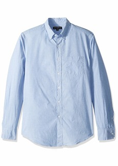 J.Crew Mercantile Men's Slim-Fit Long-Sleeve Solid Shirt Waterfall end on L