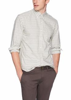 J.Crew Mercantile Men's Slim-Fit Long-Sleeve Tattersall Oxford Shirt  S