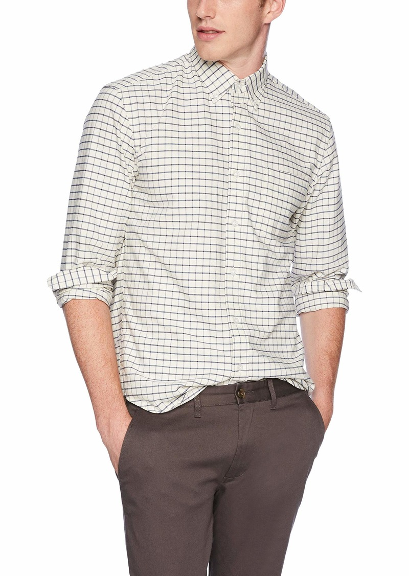 J.Crew Mercantile Men's Slim-Fit Long-Sleeve Tattersall Oxford Shirt  XS