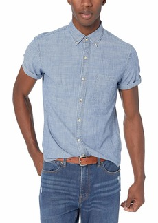 J.Crew Mercantile Men's Slim-Fit Short-Sleeve Chambray Shirt Classic wash S