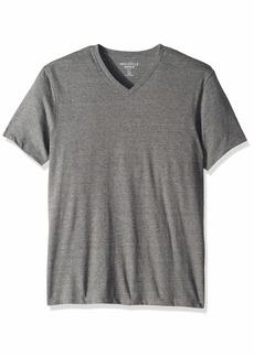 J.Crew Mercantile Men's Slim-Fit Short-Sleeve Heathered V-Neck T-Shirt Slate M