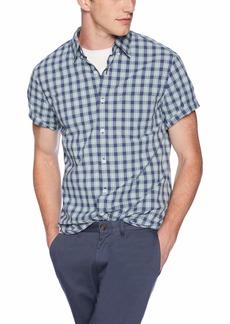 J.Crew Mercantile Men's Slim-Fit Short-Sleeve Plaid Shirt  XS