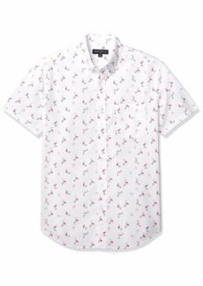 J.Crew Mercantile Men's Slim-Fit Short-Sleeve Stretch Printed Shirt  XS
