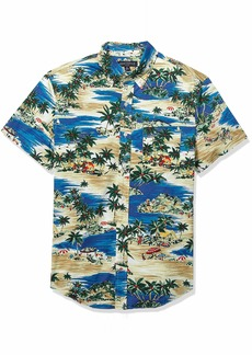 J.Crew Mercantile Men's Slim-Fit Short Sleeve Stretch Tropical Printed Shirt  S