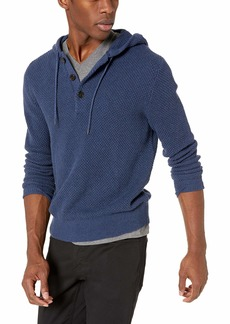 J.Crew Mercantile Men's Textured Cotton Henley Hoodie Sweater  S