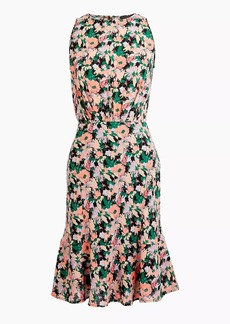 J.Crew Mercantile ruched-waist dress in neon floral