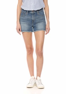 "J.Crew Mercantile Women's 10"" Cutoff Denim Boy Short"