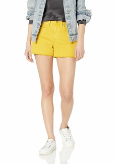 "J.Crew Mercantile Women's 10"" Cutoff Garment Dyedd Denim Boy Short"