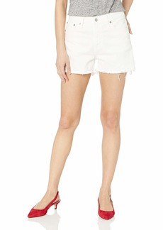 "J.Crew Mercantile Women's 10"" Cutoff White Denim Boy Short"