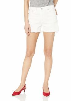 "J.Crew Mercantile Women's 10"" Cutoff White Denim Boy Short"