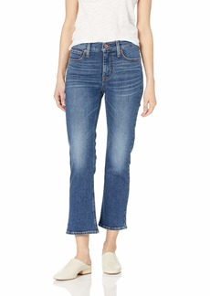 "J.Crew Mercantile Women's 9"" High-Rise Cropped Flare Jean"
