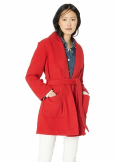J.Crew Mercantile Women's Belted Wool Wrap Coat Spectrum red XXL