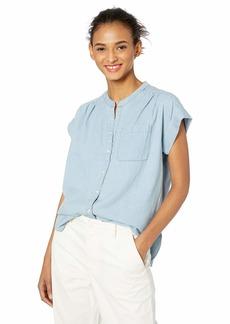 05e574cfd72e54 J.Crew Mercantile Women's Chambray Camp Shirt M