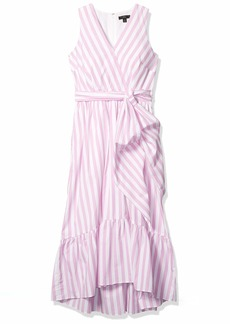 J.Crew Mercantile Women's Cotton Poplin Pine Dress FLO Stripe White Sun Peony