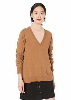 J.Crew Mercantile Women's Cotton V-Neck Sweater  M