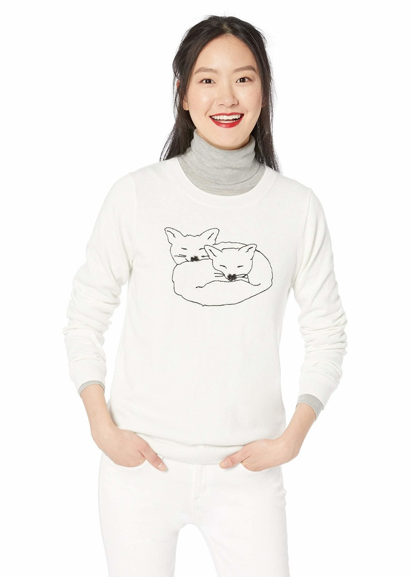 J.Crew Mercantile Women's Crewneck Fox Sweater  L