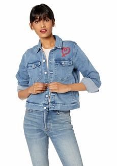 J.Crew Mercantile Women's Cropped Embroidered Denim Jacket  XS