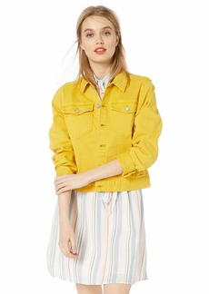 J.Crew Mercantile Women's Cropped Garment-Dyed Denim Jacket  XL