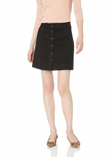 J.Crew Mercantile Women's  Denim Button Front Mini Skirt