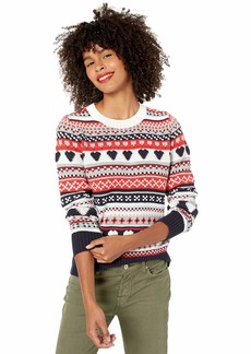 J.Crew Mercantile Women's Fair Isle Crewneck Sweater  L