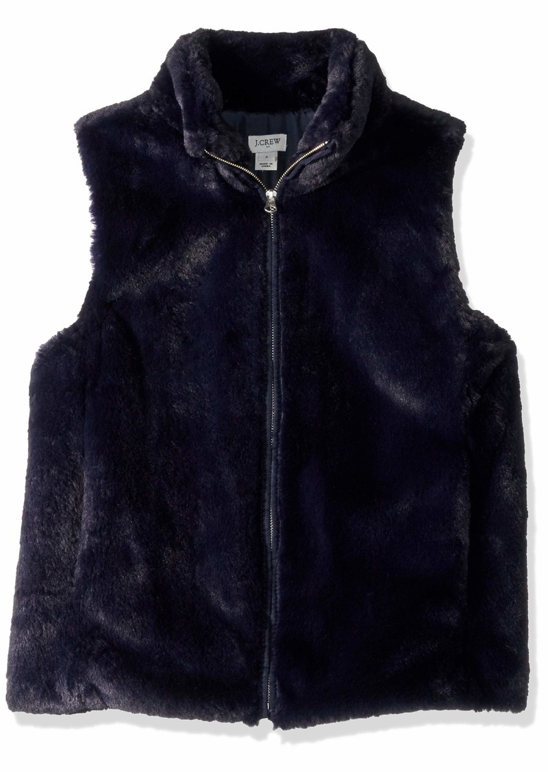 J.Crew Mercantile Women's Faux Fur Vest  XL