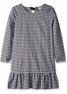 J.Crew Mercantile Women's Flannel Ruffle Hem Dress  S
