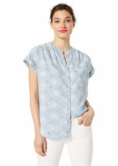 J.Crew Mercantile Women's Floral Chambray Camp Shirt  XL