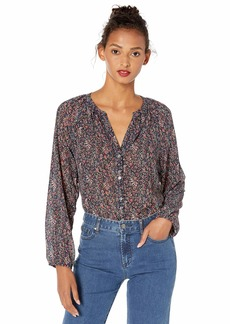 J.Crew Mercantile Women's Floral Printed Three-Quarter Sleeve Blouse  M