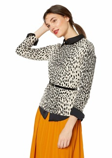 J.Crew Mercantile Women's Leopard Crewneck Sweater Svannah cat XS