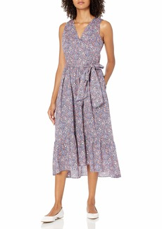 J.Crew Mercantile Women's Liberty Kayoko Floral Sleeveless Wrap Dress