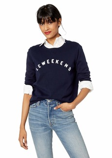 J.Crew Mercantile Women's Long-Sleeve Cotton Le Weekend Graphic Sweater  M