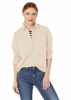 J.Crew Mercantile Women's Long-Sleeve Seersucker Popover Shirt  XXS