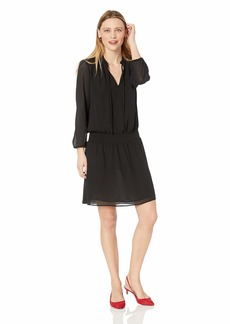 J.Crew Mercantile Women's Long-Sleeve Smocked Tie-Front Dress  XS