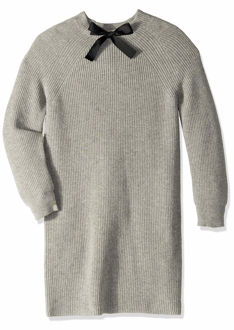 J.Crew Mercantile Women's Long Sleeve Sweater Dress with Bow Neck Detail  XS