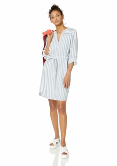 J.Crew Mercantile Women's Long-Sleeve Textured Stripe Shirt Dress  L