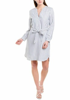 J.Crew Mercantile Women's Long-Sleeve Textured Stripe Shirt Dress  XXL