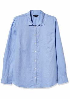 J.Crew Mercantile Women's Perfect Linen Shirt in Solid Misty PERI S
