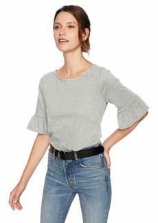 J.Crew Mercantile Women's Flutter Sleeve T-Shirt Heather ice