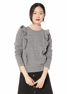 J.Crew Mercantile Women's Plus Size Ruffle Trim Crewneck Sweatshirt