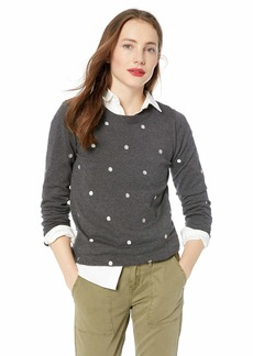 J.Crew Mercantile Women's Polka Dot Crewneck Sweater  XXS