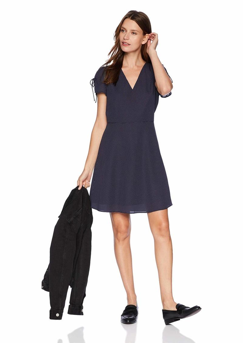 J.Crew Mercantile Women's Printed Dress Navy/Ivory Mini dots