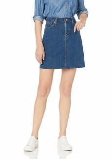 J.Crew Mercantile Women's Raw Edge Denim Mini Skirt